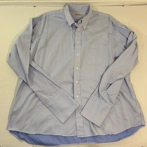 Men's Burberry London Blue Dress Shirt XXL